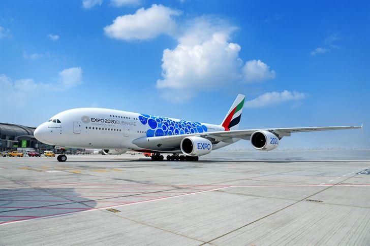 طيران الإمارات تشارك بطائرة A380 في معرض الكويت للطيران