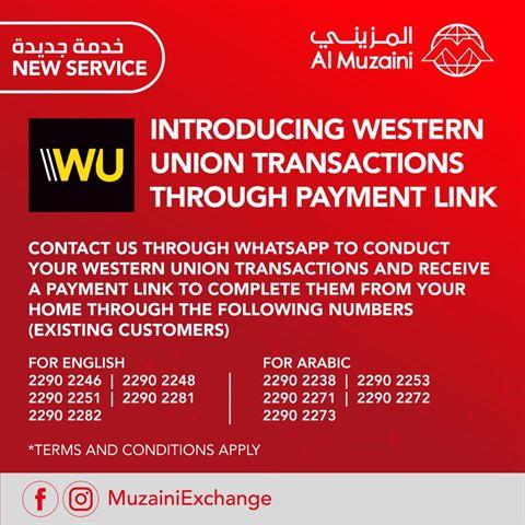 Al Muzaini introduces Western Union Service through Whats App