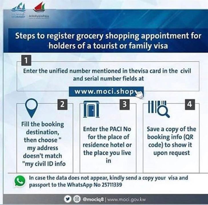 Steps for Booking Shopping Appointment for People Having a Tourist or Family Visa