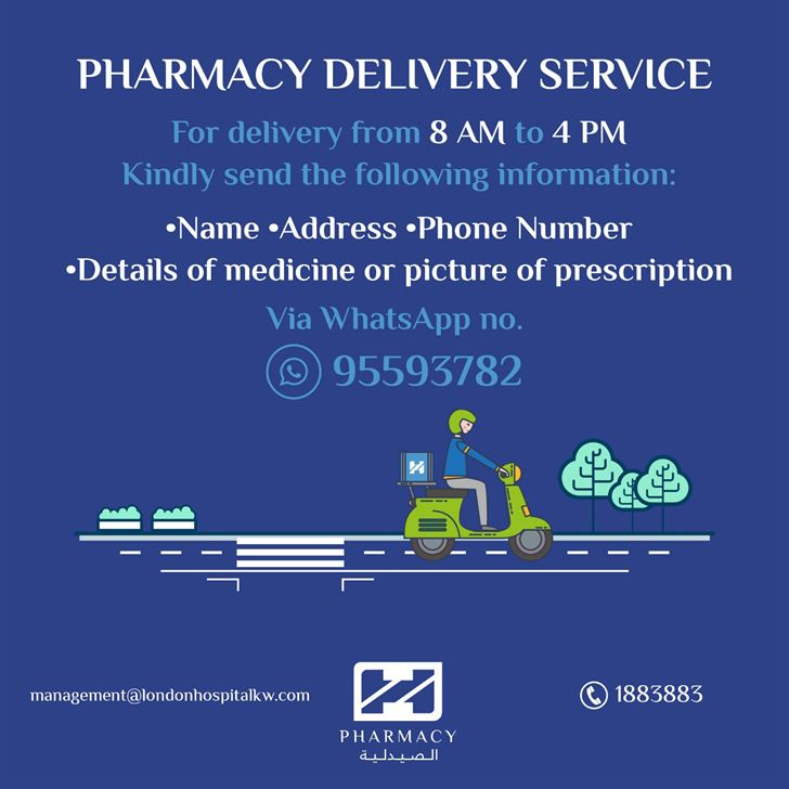 London Hospital announces Pharmacy Delivery Service through WhatsApp