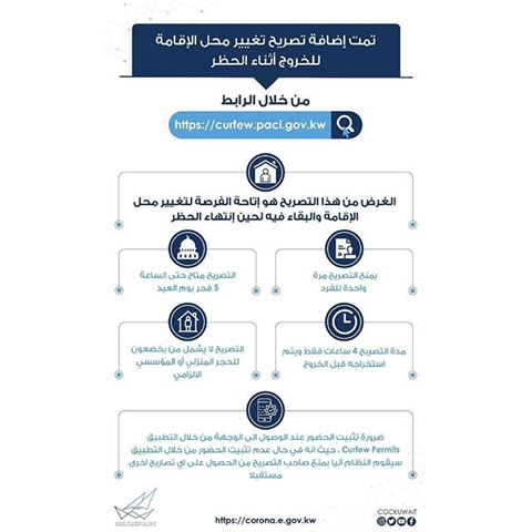 اضافة تصريح خاص بتغيير محل الإقامة اثناء فترة الحظر الشامل