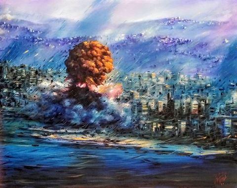 """مسرح إسطنبولي يُطلق معرضاً للرسم والفوتوغرافيا """"من أجل بيروت"""""""