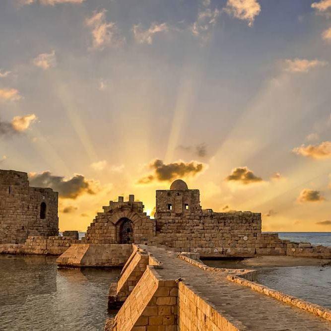 Sidon Sea Castle Saida Lebanon Rinnoo Net Website