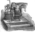 First telegraphic connection in Argentina.