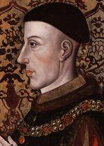 هنري الخامس يتولى حكم إنجلترا خلفًا لوالده الملك هنري الرابع الذي توفي قبل يوم.<br />